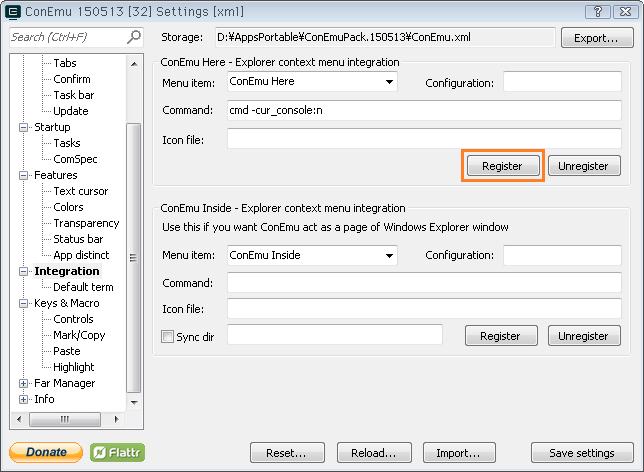 Windows:コマンドプロンプト代替をConsole2からConEmuに変更